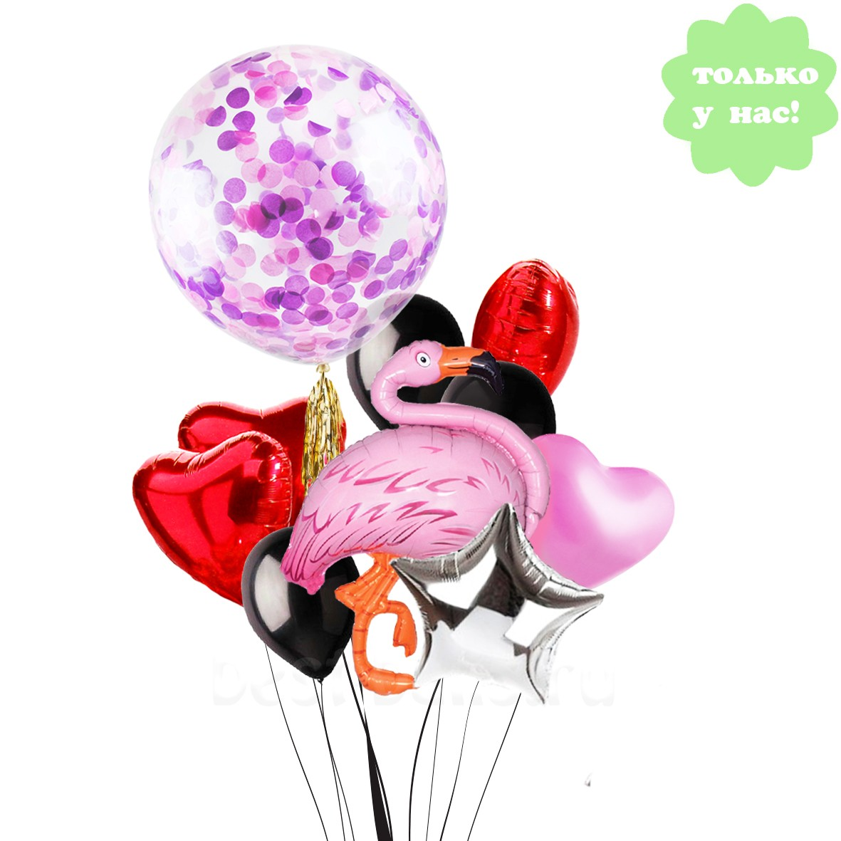 Как сделать из шариков фламинго