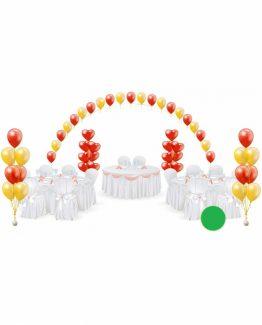 Микс свадебных шаров №14